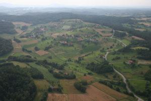 Pogled na Borečo iz zraka