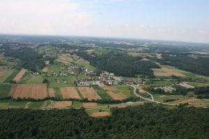 Gornji Petrovci, pogled iz zraka