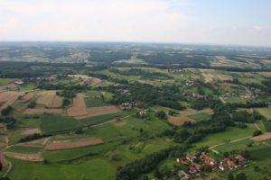 Pogled na Križevce iz zraka