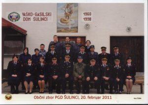Občni zbor PGD Šulinci, 20.2.2011