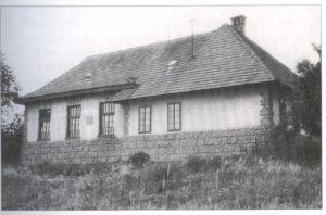 Stara šola v Adrijancih, leta 1960